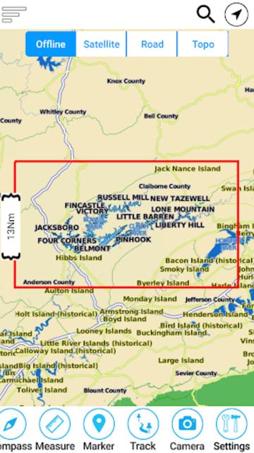 Norris Lake - Tennessee Offline GPS Fishing Charts screenshot 6
