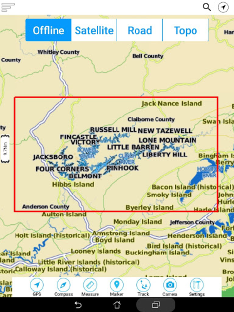 Norris Lake - Tennessee Offline GPS Fishing Charts screenshot 7