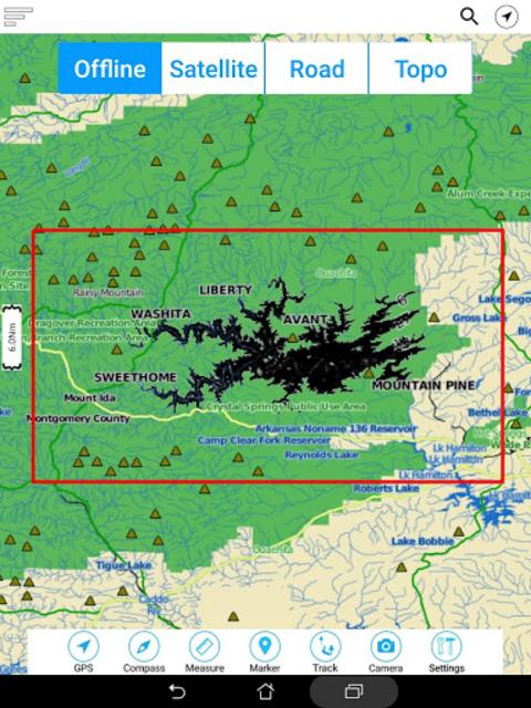 Lake Ouachita - Arkansas Offline Fishing Charts screenshot 13