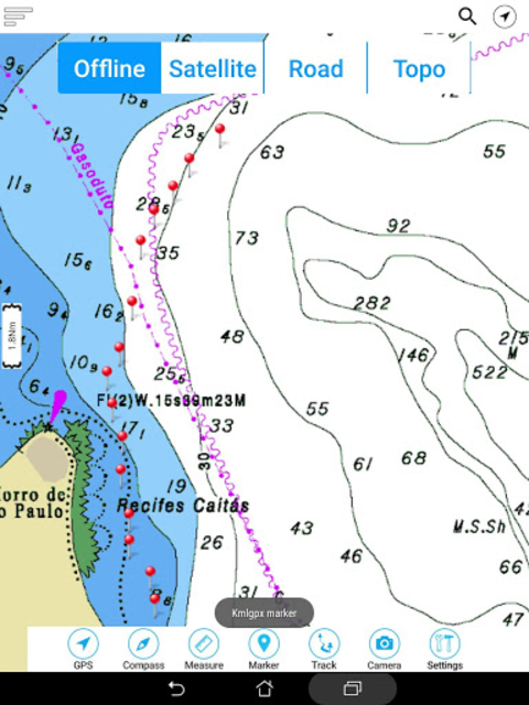 Lake Ouachita - Arkansas Offline Fishing Charts screenshot 16