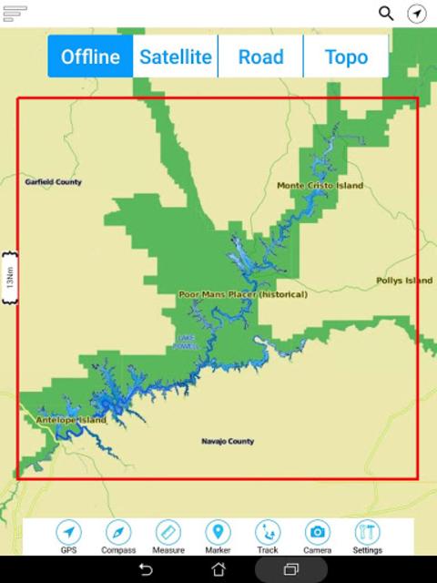 Lake Powell Offline GPS Charts screenshot 20