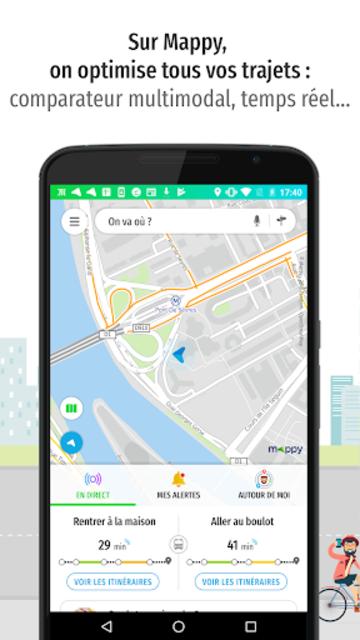 Mappy – Plan, Comparateur d'itinéraires, GPS screenshot 1