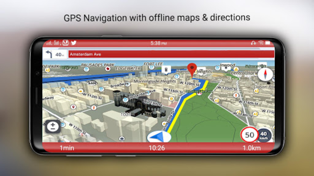 Free-GPS, Maps, Navigation, Directions and Traffic screenshot 3