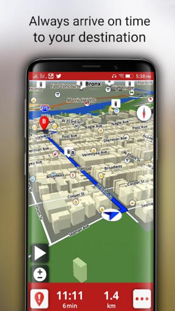 Free-GPS, Maps, Navigation, Directions and Traffic screenshot 8