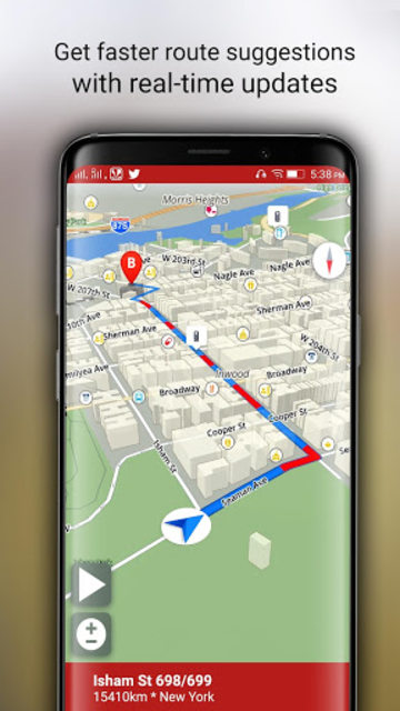 Free-GPS, Maps, Navigation, Directions and Traffic screenshot 16