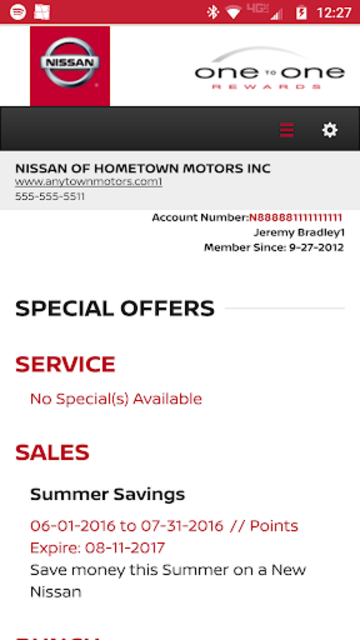Nissan One To One Rewards screenshot 3