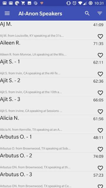 Al-Anon Speakers - ALANON Speaker Tapes screenshot 1