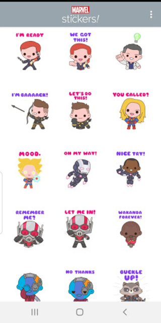 Avengers: Endgame Stickers screenshot 4