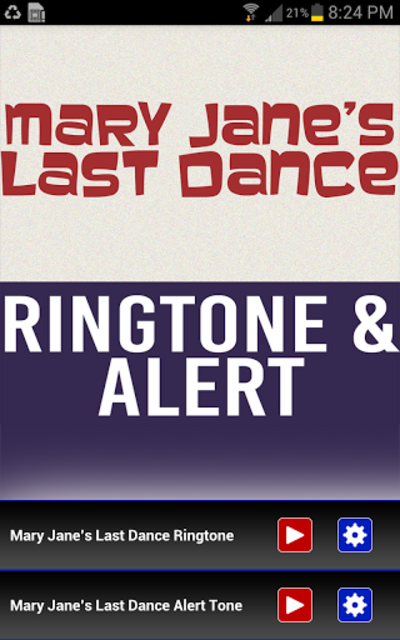 Mary Janes Last Dance Ringtone screenshot 1
