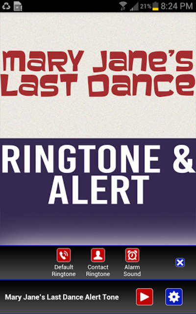 Mary Janes Last Dance Ringtone screenshot 2