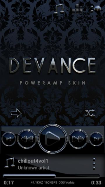 DEVANCE Poweramp skin V2 screenshot 1