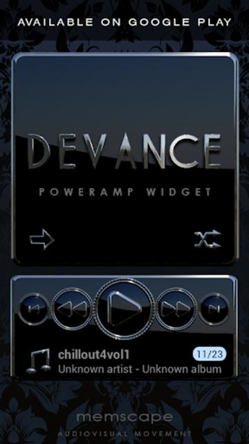 DEVANCE Poweramp skin V2 screenshot 7