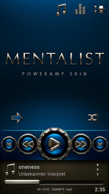 MENTALIST Poweramp skin screenshot 1