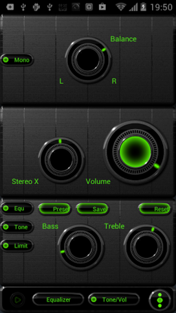 NEON GREEN Poweramp skin screenshot 2