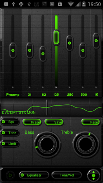 NEON GREEN Poweramp skin screenshot 3
