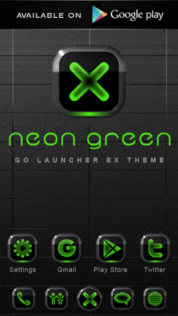 NEON GREEN Poweramp skin screenshot 4