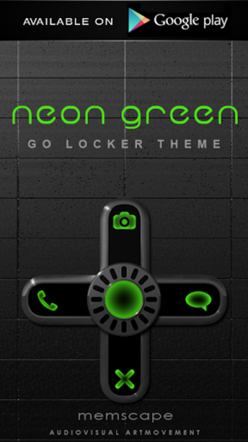 NEON GREEN Poweramp skin screenshot 5