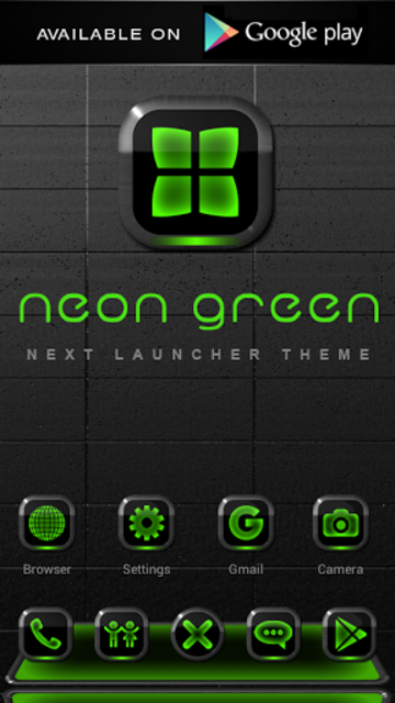 NEON GREEN Poweramp skin screenshot 8