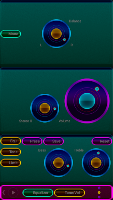 NEON - Z Poweramp Skin V2 screenshot 3