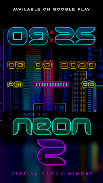 NEON - Z Poweramp Skin V2 screenshot 4