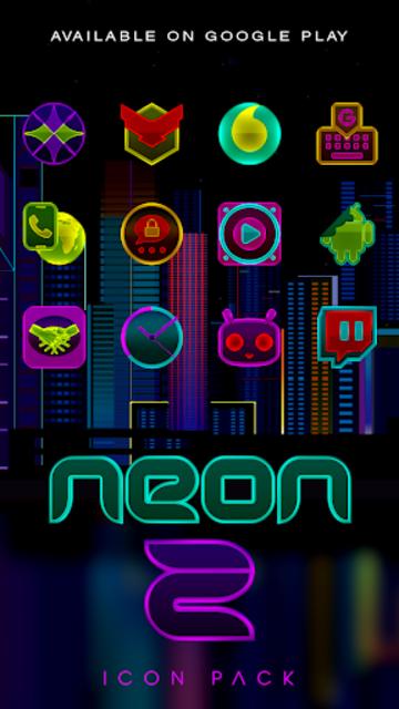NEON - Z Poweramp Skin V2 screenshot 5