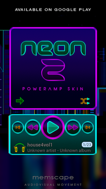 NEON - Z Poweramp Skin V2 screenshot 6