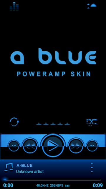 A-BLUE Poweramp skin V2 screenshot 1