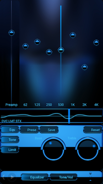 A-BLUE Poweramp skin V2 screenshot 2
