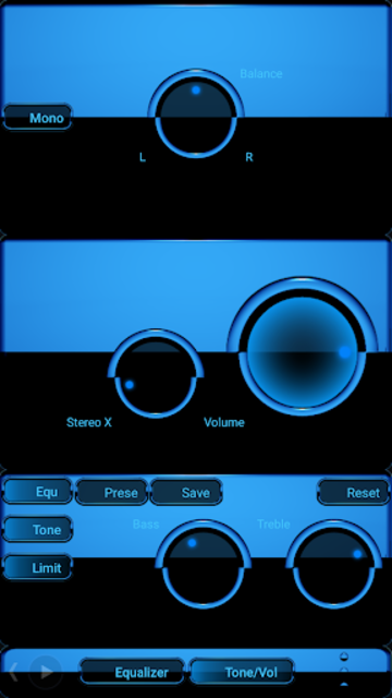 A-BLUE Poweramp skin V2 screenshot 3