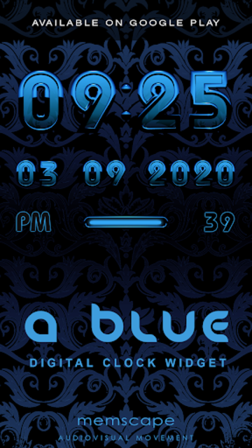 A-BLUE Poweramp skin V2 screenshot 5