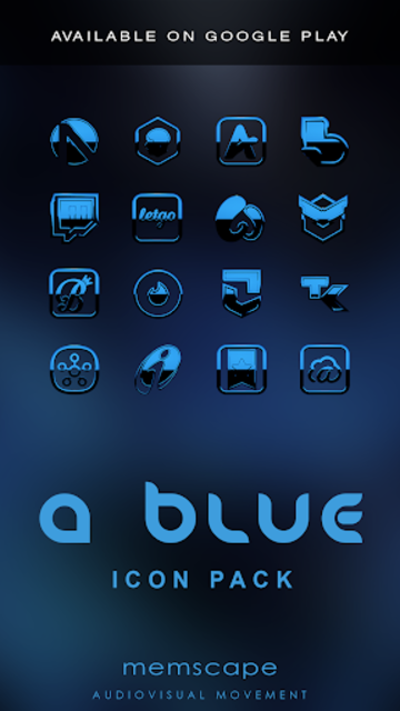 A-BLUE Poweramp skin V2 screenshot 6