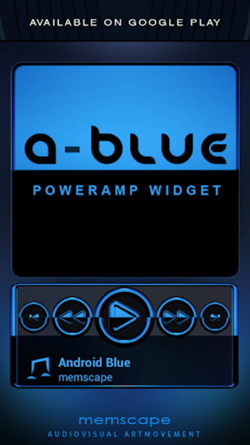 A-BLUE Poweramp skin V2 screenshot 7