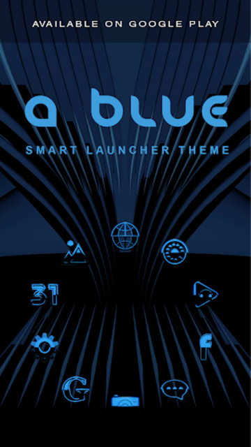 A-BLUE Poweramp skin V2 screenshot 8