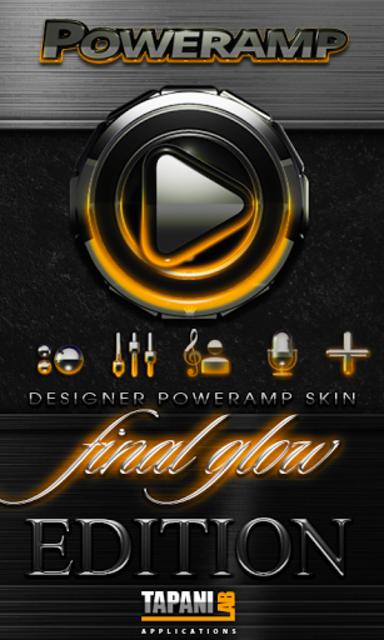 Poweramp skin Orange Glow screenshot 1
