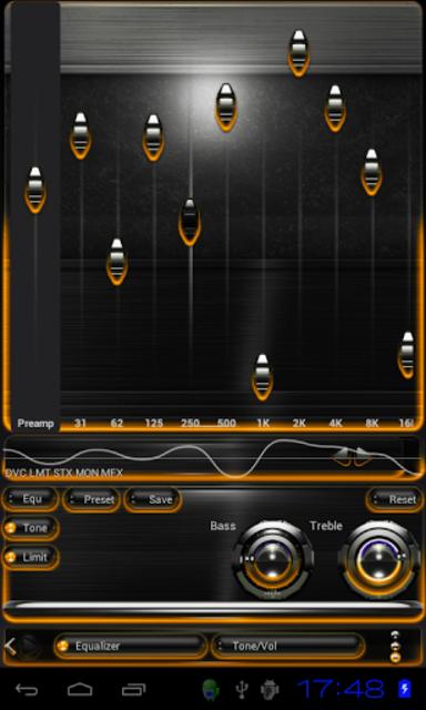 Poweramp skin Orange Glow screenshot 2