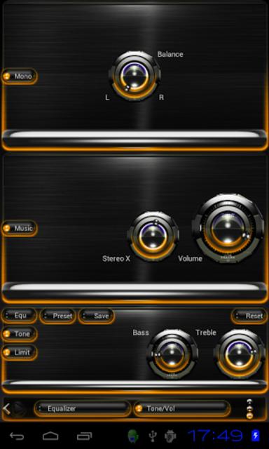 Poweramp skin Orange Glow screenshot 3