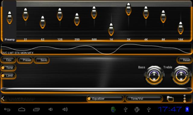 Poweramp skin Orange Glow screenshot 4