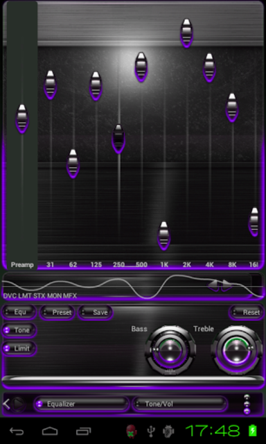Poweramp skin Purple Glow screenshot 2