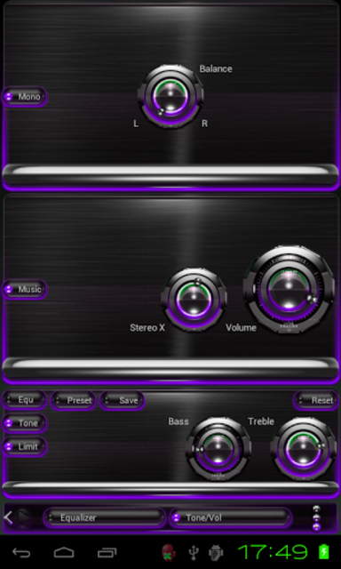 Poweramp skin Purple Glow screenshot 3