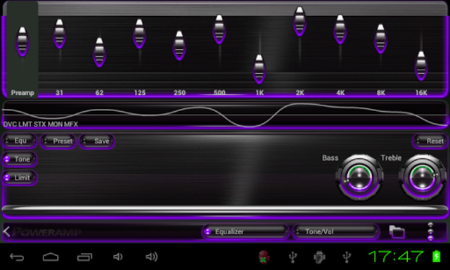 Poweramp skin Purple Glow screenshot 4