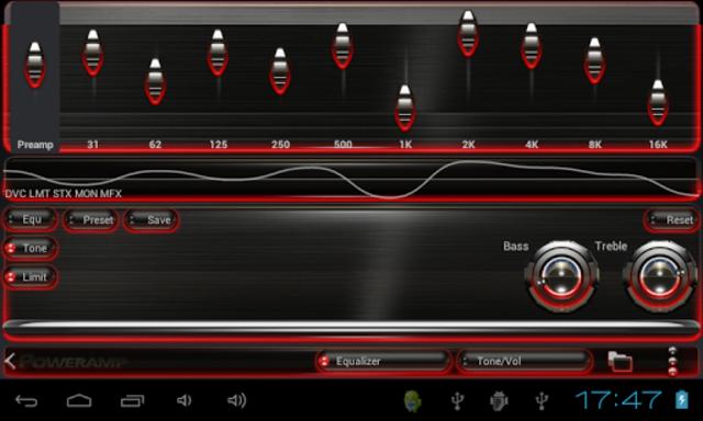 Poweramp skin Red Glow screenshot 4
