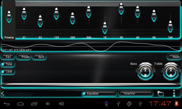 Poweramp skin Turquoise Glow screenshot 4