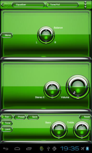 Poweramp skin Green Glas delux screenshot 4