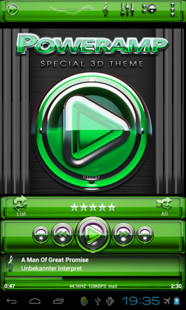 Poweramp skin Green Glas delux screenshot 2