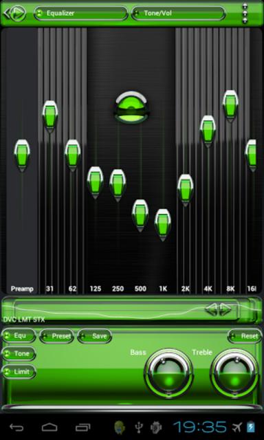 Poweramp skin Green Glas delux screenshot 3