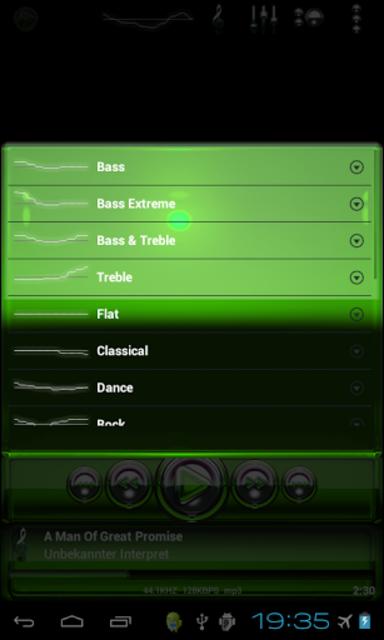 Poweramp skin Green Glas delux screenshot 5