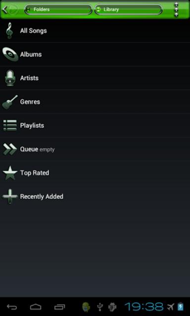 Poweramp skin Green Glas delux screenshot 6