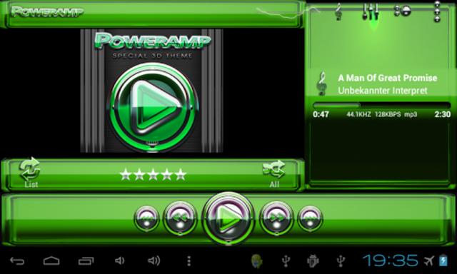 Poweramp skin Green Glas delux screenshot 7