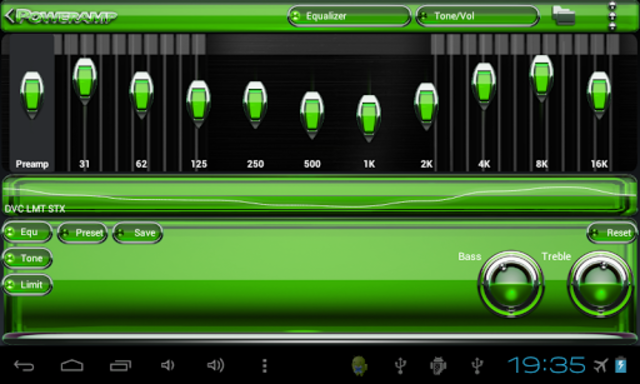 Poweramp skin Green Glas delux screenshot 8