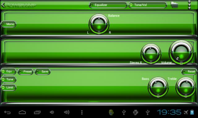 Poweramp skin Green Glas delux screenshot 9